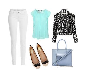 стильный образ и джинсы