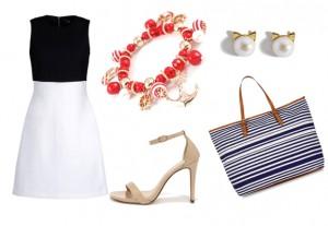 морской стиль в женской одежде, лето 2015
