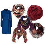 Шарф к синему пальто — как выбрать