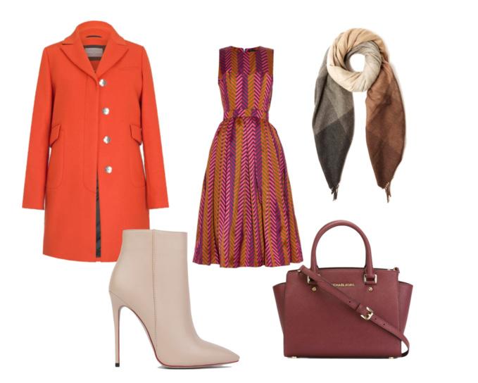 яркое пальто для осени