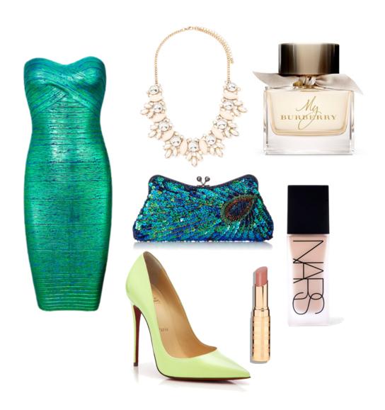 модные сеты на новый год 2016 - зеленый