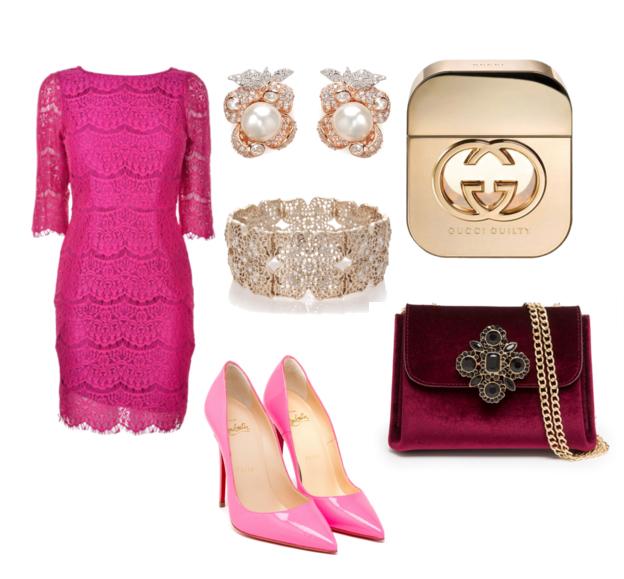 модные сеты на новый год 2016 - розовый