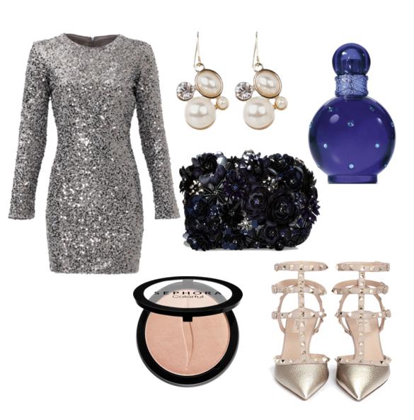 модные сеты на новый год 2016 - серебристый