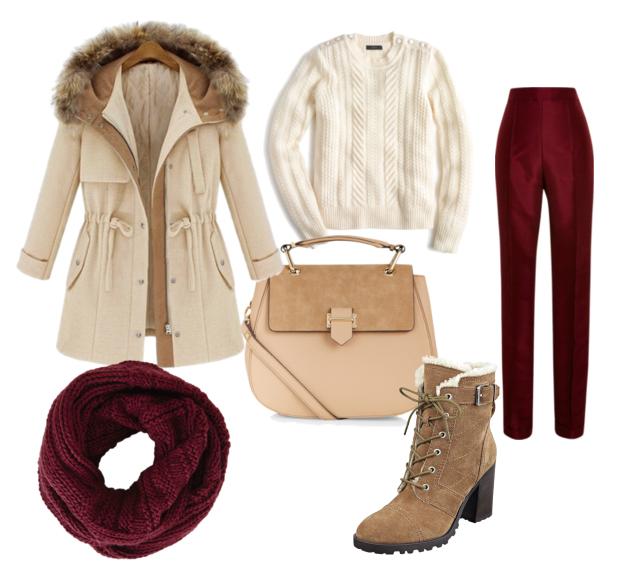 модные сеты зима 2016, свитер и и парка