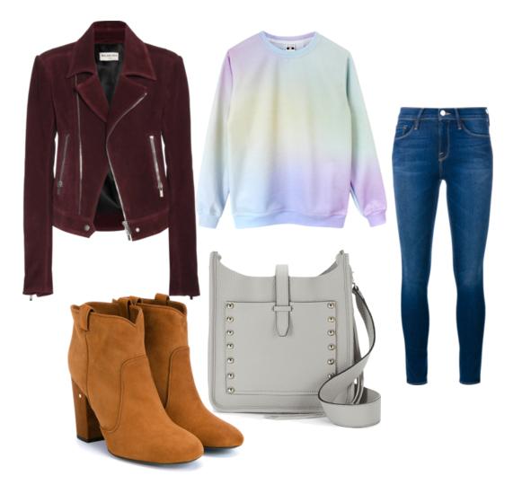 модные сеты весна 2016 кэжуал джинсы и куртка