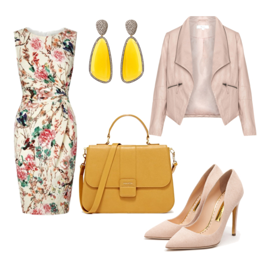 модные сеты весна 2016 платье с цветочным принтом