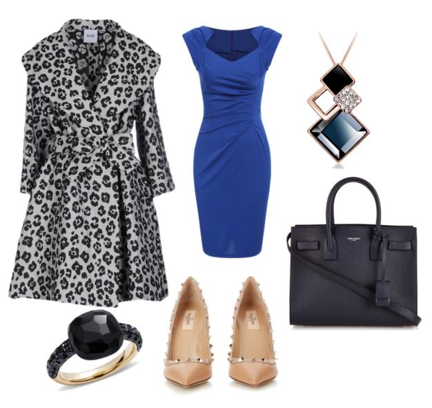 модные сеты весна 2016 тренч с леопардовым принтом