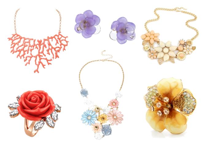 модная бижутерия весна лето 2016 - цветочные мотивы