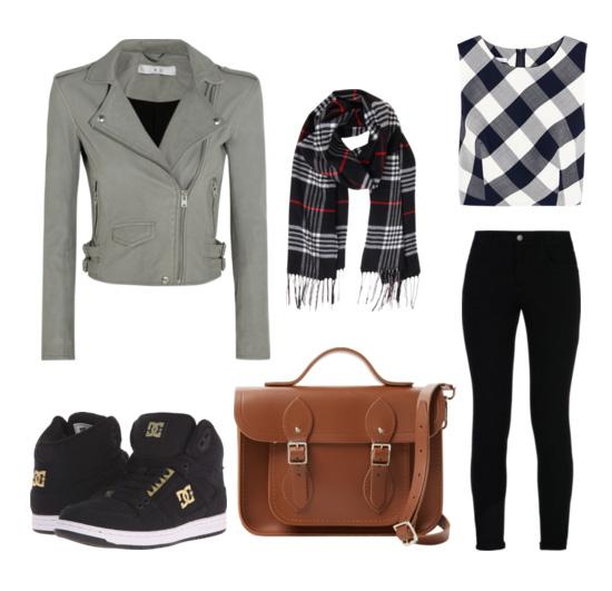 сеты весна 2016 - кожаная куртка, джинсы, кеды, сумка кроссбоди