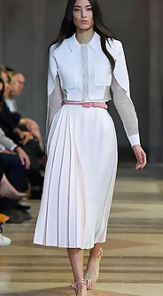 модные женские юбки лето 2016 - плиссированная юбка