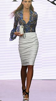 модные женские юбки лето 2016 - прямая белая юбка до колена