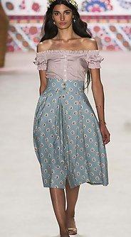 модные женские юбки лето 2016 - юбка миди пастельный цвет