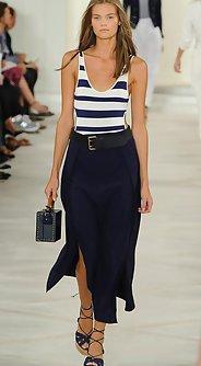 модные женские юбки лето 2016 - юбка миди с разрезом