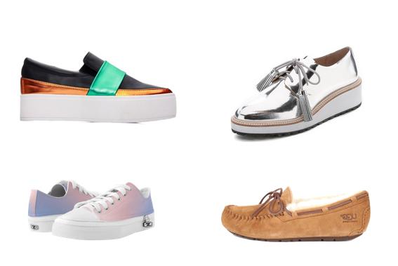 модные туфли лето 2016 - кроссовки и мокасины
