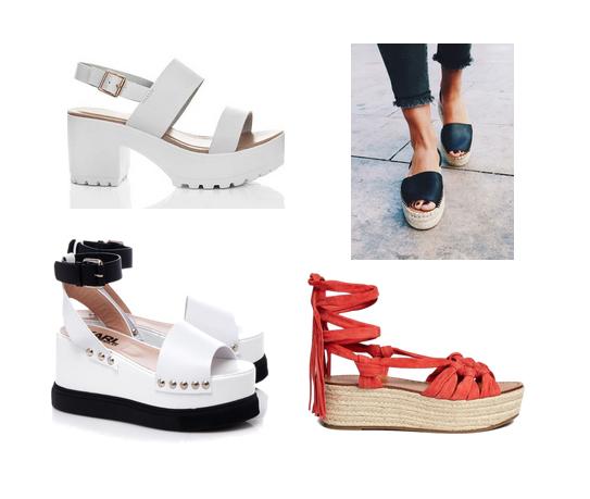 модные туфли лето 2016 - массивная подошва