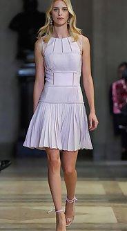 модные юбки лето 2016 - короткая плиссированная юбка