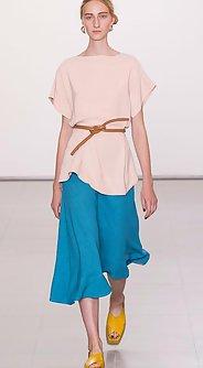 модные юбки лето 2016 - юбка миди яркого синего цвета