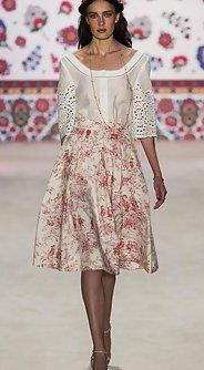 модные юбки на лето 2016 - юбка миди с цветочным принтом