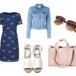 Летнее платье и джинсовый жакет — модный летний образ