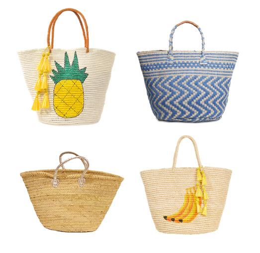 модные пляжные сумки 2016 - объемные пляжные сумки