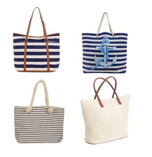модные пляжные сумки 2016 - пляжные сумки в морском стиле