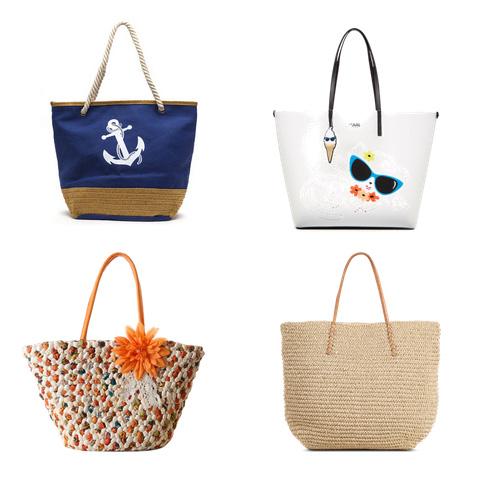 модные пляжные сумки 2016 - сумка на пляж, морская тематика