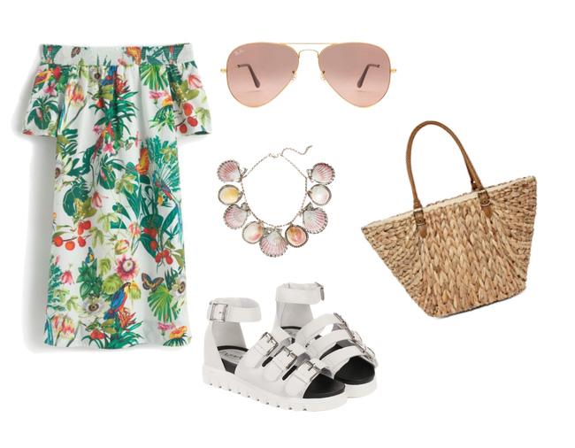 лето, модный сет одежды