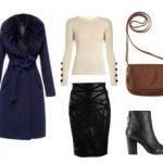 Синее пальто — элегантный и модный образ
