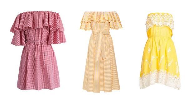 платье с воланом - мода лето 2017
