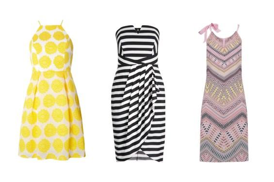платья с геометрическим принтом - мода лето 2017