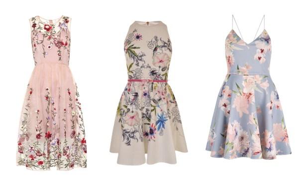 платья с цветочным принтом - мода лето 2017