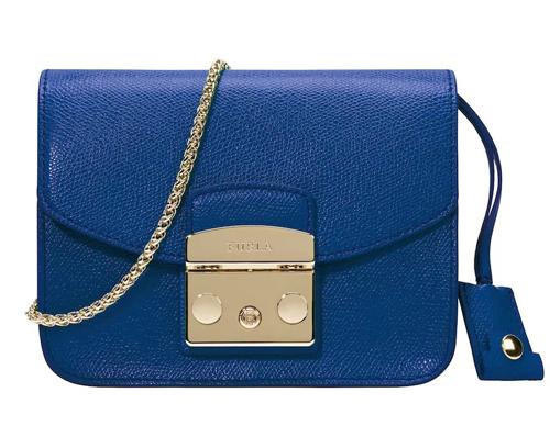синяя сумка furla metropolis