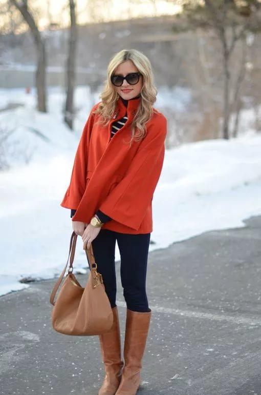 Коричневые женские сапоги – с чем носить