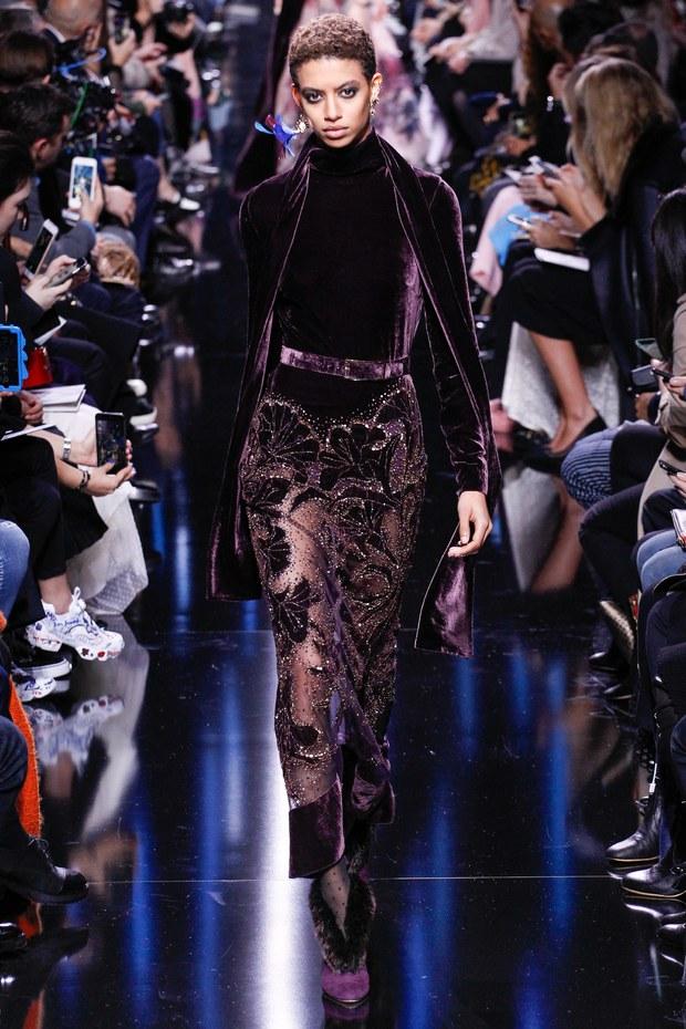 Одежда из бархата - модный тренд осени
