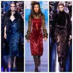 Одежда из бархата — модный тренд осени