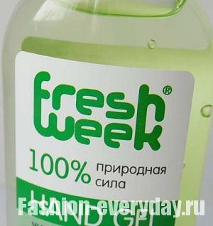 Гель для рук от Fresh Week с ароматом зеленого чая