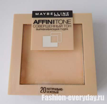 выравнивающая пудра AffiniTone от Maybelline