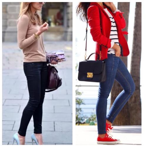 джинсы скинни, кэжуал образ