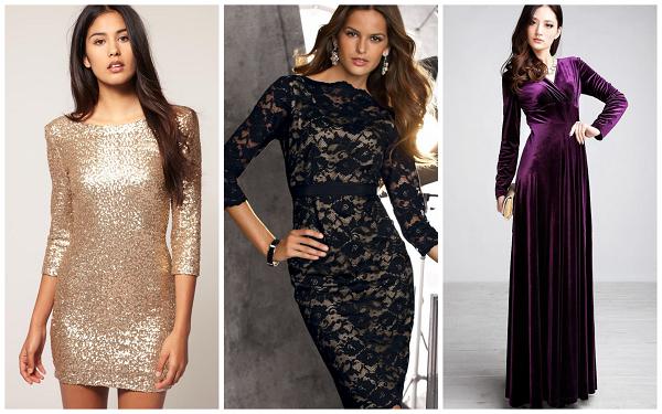 выбираем модное платье на новый год 2018 - пайетки, бархат, цвет