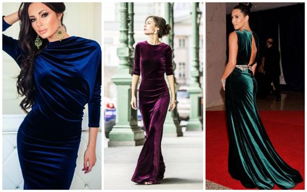 модное платье на Новый год 2018 - бархат