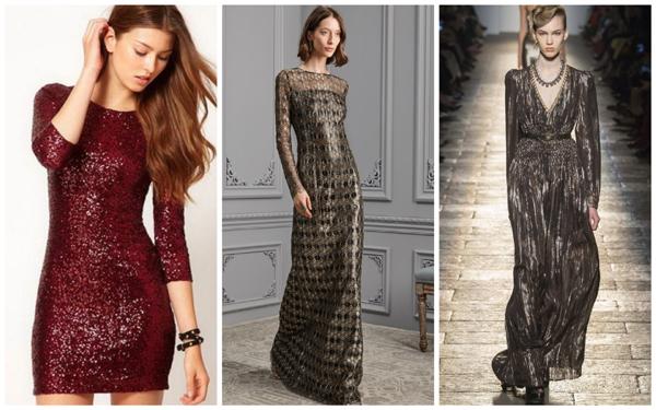 модное платье на Новый год 2018 - бордовый и коричневый цвет
