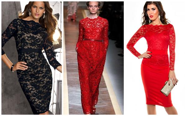 модное платье на Новый год 2018 - кружевное