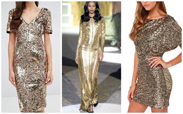 модное платье на Новый год 2018 - пайетки