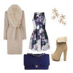 Пальто и цветочный принт